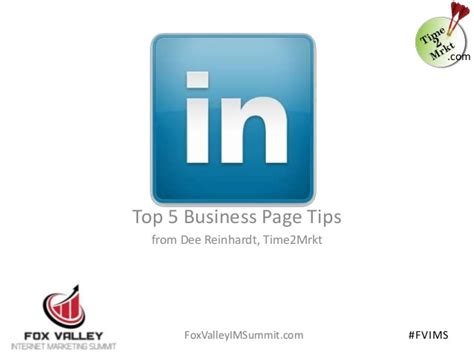 linkedin top 5 business page tips for fox valley