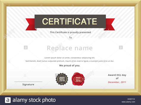 education certificate templates certificate template and gold border education