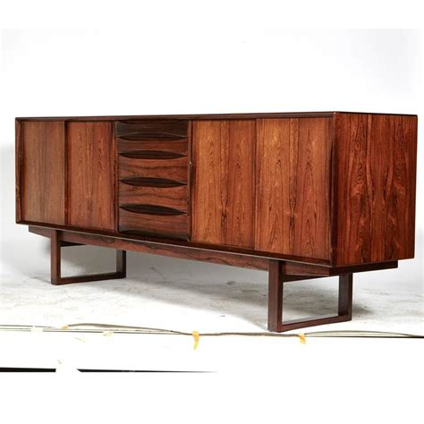 Credenza Legs rosewood credenza with sled legs by arne vodder 1960s for sale at 1stdibs