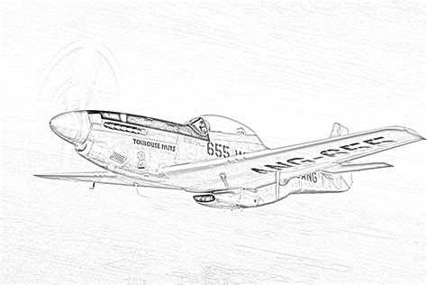 P 51 Mustang Coloring Pages by World War Ii In Pictures
