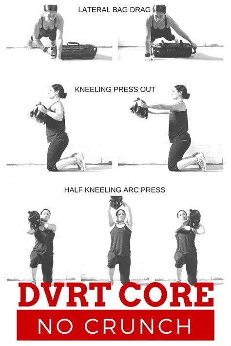 dvrt no crunch ways to work your dvrt ultimate sandbag resources workout