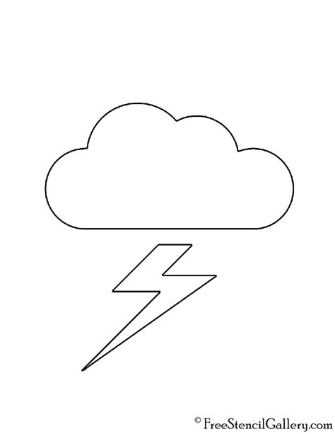 printable weather stencils weather icon thundercloud 02 stencil free stencil gallery