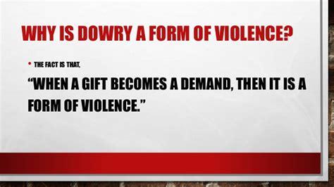 dowry violence