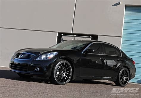 infiniti g37 with rims 2010 infiniti g37 with 20 quot giovanna kilis in matte black