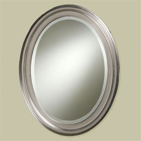 brushed nickel mirror for bathroom 25 best ideas about oval bathroom mirror on pinterest