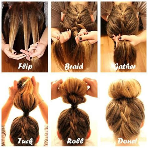 how to do a bun with a braid around it braid into sock bun hairstyles how to