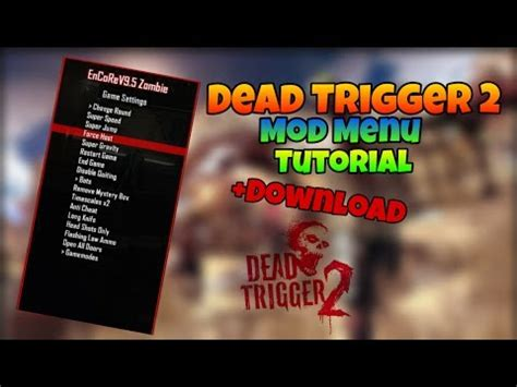 tutorial hack dead trigger 2 dead trigger 2 how to install mod menu tutorial