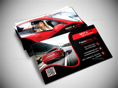 Car Rental Gift Card - rent a car business card by designsign graphicriver