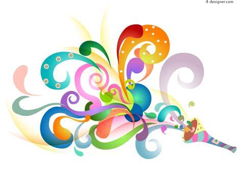 colorful designer 4 designer colorful pattern design vector material