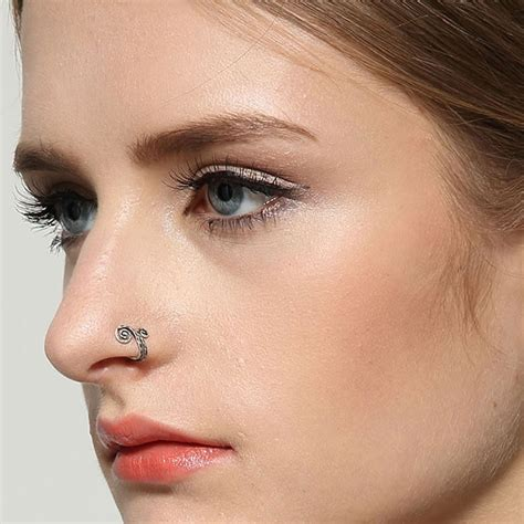 nose rings older women new fashion body jewelry clip on nose ear non piercing