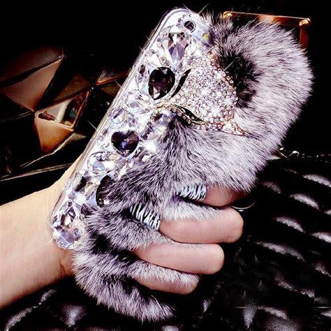 Softcase Rabbit Fur Series Iphone 6 6s 1 lancase for iphone 6s rabbit hair fur fox bling rhinestone tpu for iphone