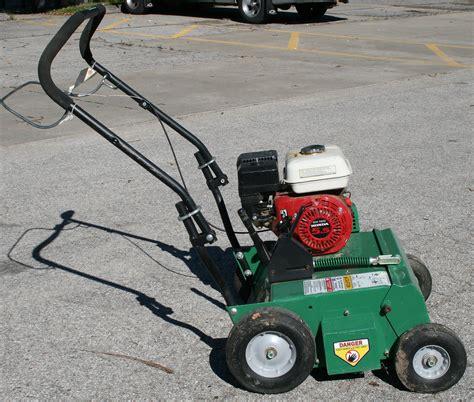 Landscape Power Rake Rental 5 5hp Power Rake Dethatcher Rental In Iowa City Cr Ia