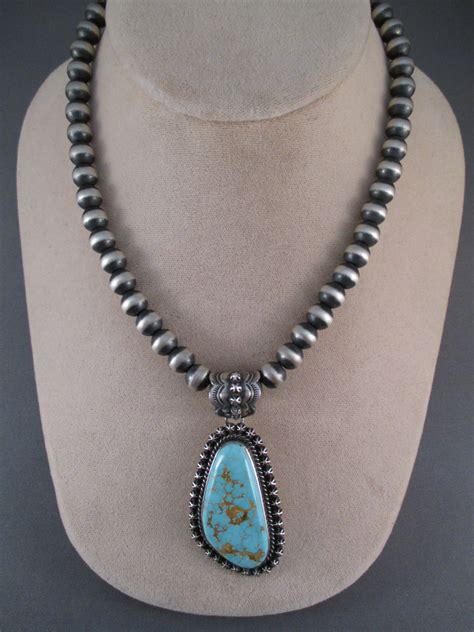 """Oxidized Sterling Silver Bead Necklace (16"""")   Two Grey Hills"""