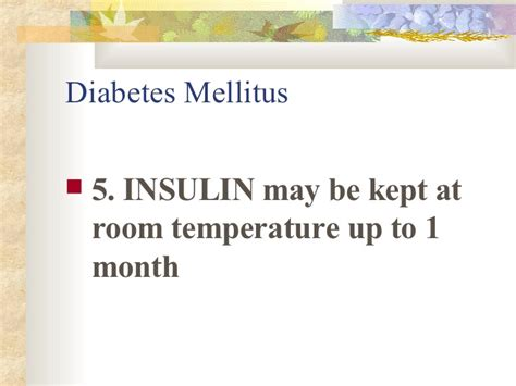 How Can Insulin Be Stored At Room Temperature by Nursereview Org Diabetes Mellitus