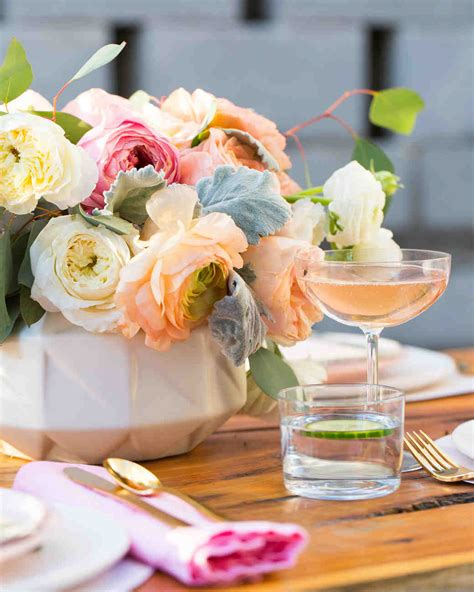 wedding shower theme centerpieces the prettiest bridal shower centerpieces martha stewart weddings