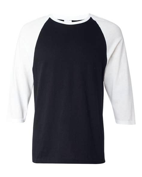 Tshirt Raglan Black anvil mens 3 4 sleeve baseball jersey t shirt raglan team sizes s 2xl 2184
