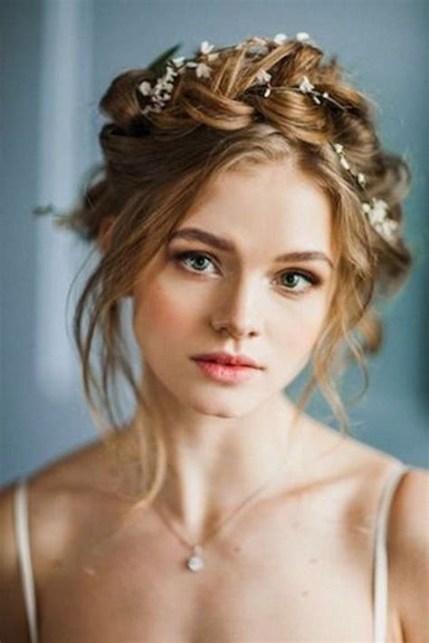 braided hairstyles milkmaid 10 flower crown hairstyles for any bride updo wedding