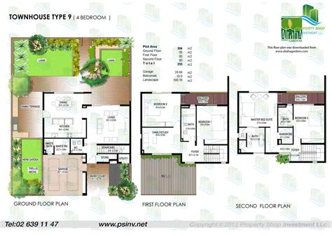 townhouse plan floor plans yasmina al raha gardens