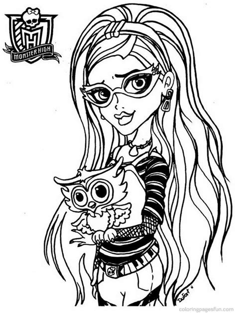 coloring pages free monster high monster high coloring pages coloring home