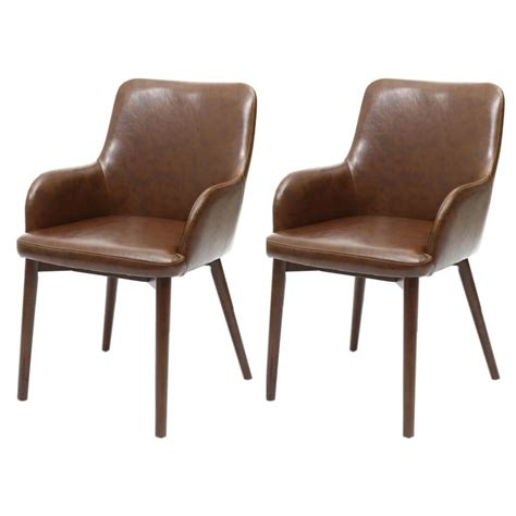 sidcup vintage brown leather dining chairs free delivery