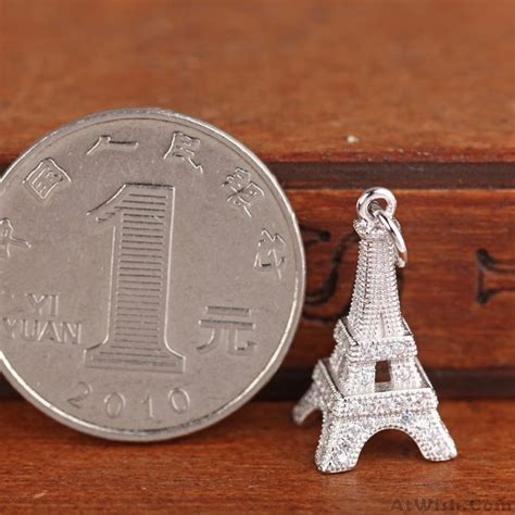 Fashion Eiffel Tower Necklace fashion eiffel tower silver zircon pendant necklace