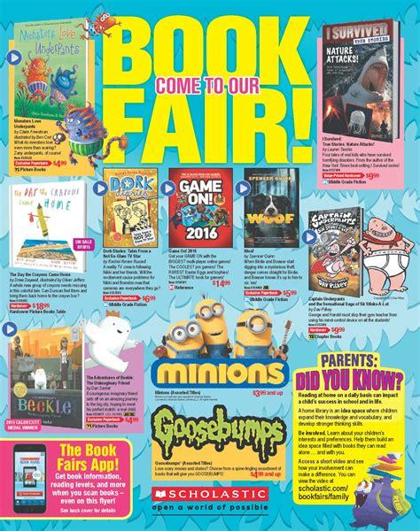 28 scholastic book fair flyer template scholastic