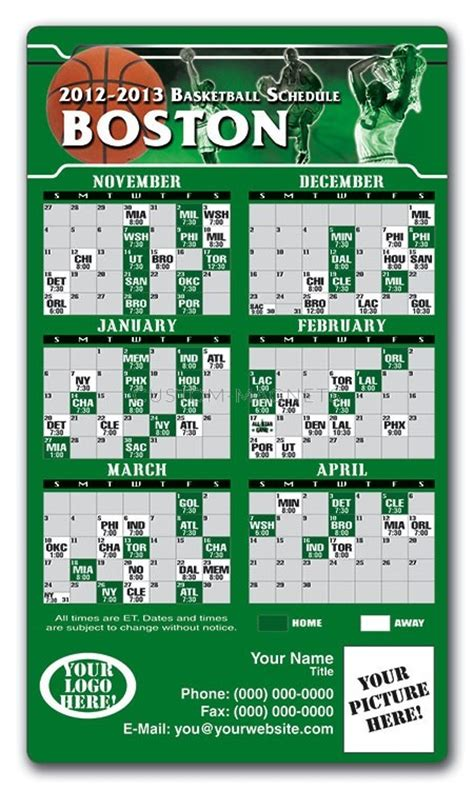 printable schedule for boston celtics boston celtics basketball team schedule magnets 4 quot x 7