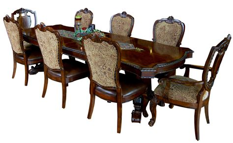 bench and chair dining sets 9 piece old world dining table and chair set ebay