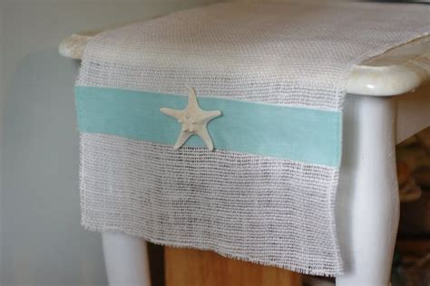 coastal decor table runners decor white or burlap table runner with aqua