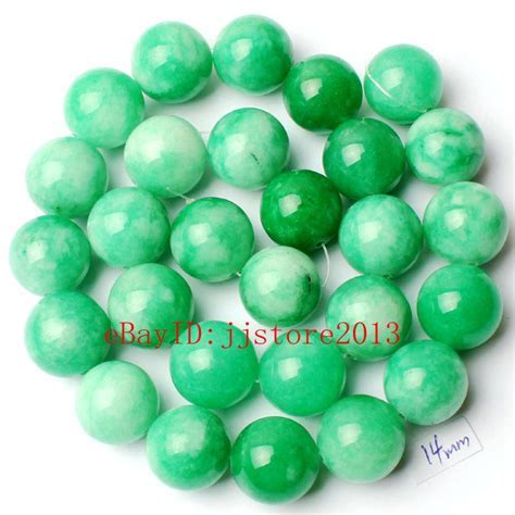 14mm Natural Round Shape Mixed Color Jade Stone Gemstone