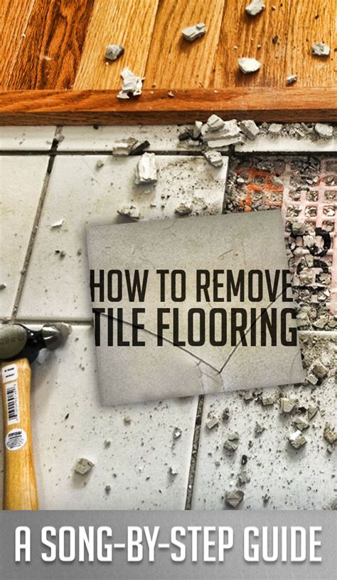 how to remove tile flooring step by step