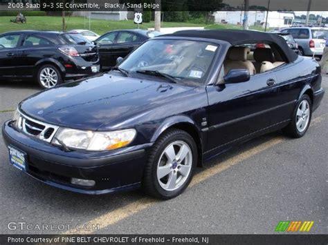 saab convertible black black 2003 saab 9 3 se convertible sand beige interior