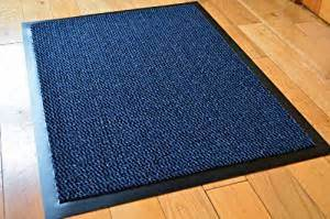 small blue black speckled door mat rubber