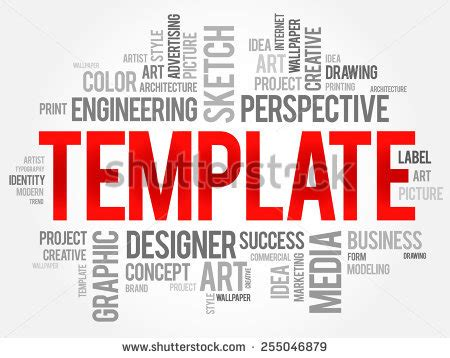 Template Word Cloud Business Concept Stock Vector 255046879 Shutterstock Cloud Business Template
