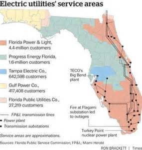 florida power and light outage map florida shareholder owned utilities