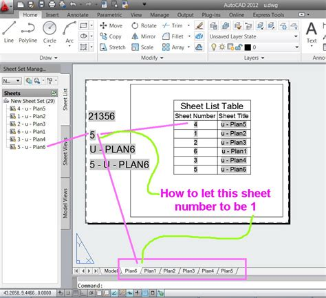 autocad layout not at 0 0 how to synchronize the layout number with sheet