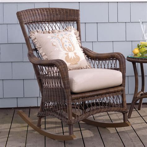 traditional rocking chair cushions providence rocking chair with cushion frontgate patio
