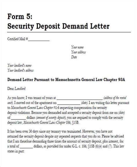 Demand Letter For Security Deposit best photos of mortgage demand letter sle demand letters