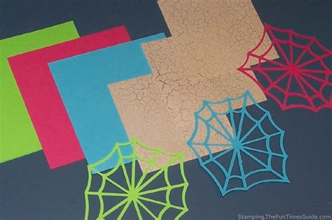 How To Make A Spiderweb Out Of Paper - card images