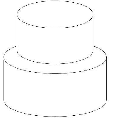 design   cake   outline   basic tiered cake  scaled larger  printed