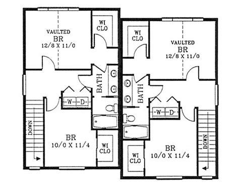 fourplex house plans cozy craftsman duplex 2879j 2nd floor master suite
