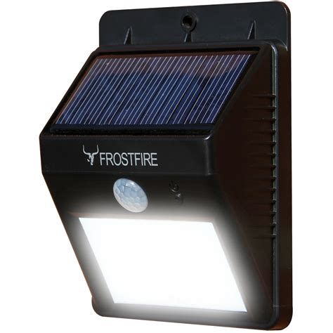 frostfire bright led wireless solar powered motion sensor light frostfire bright led wireless solar powered motion sensor