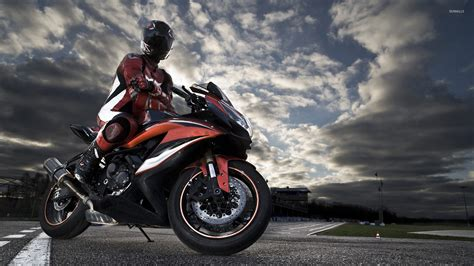 red motorbike riding a black and red motorcycle wallpaper sport
