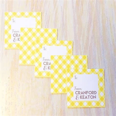 Personalize Gift Cards - enclosure card monogrammed gift tag personalized gift tag kids enclosure card gingham