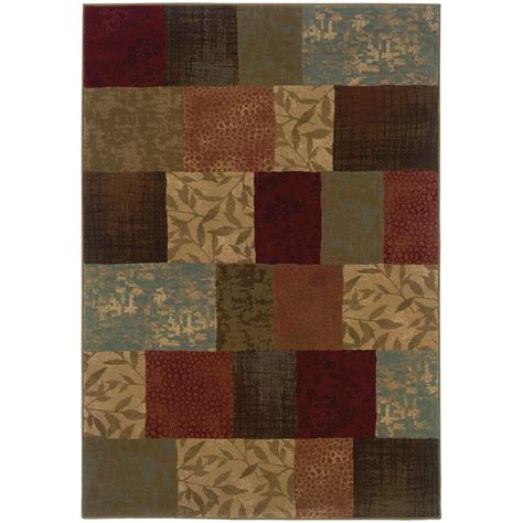7 x 8 area rug shop archer abington green indoor area rug common 5 x 8 actual 5 25 ft w x 7 5 ft l at