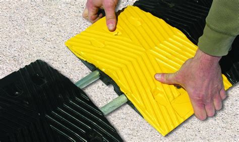 Rubber Speed Bump With Cat premium rubber speed bumps barco products