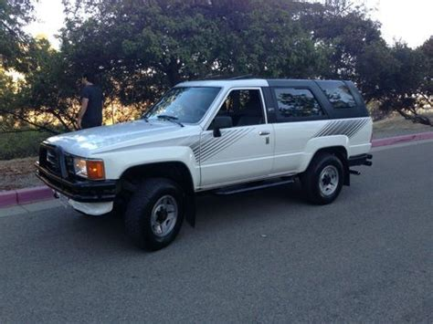 Used Toyota 4runner 4x4 For Sale Find Used 1987 Toyota 4 Runner Sr5 4x4 4 Cylinder 2 4l I4