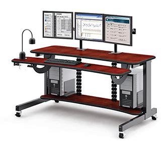 multi level computer desk computer desks for multiple monitors best home design 2018