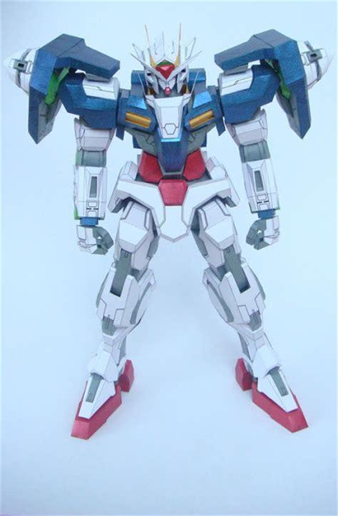 Gundam Exia Papercraft - gundam gn 0000 00 papercraft gundam anime papercrafts