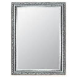 silver framed bathroom mirrors shop style selections silver beveled wall mirror at lowes com